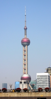Shanghai's Oriental Pearl Radio & TV tower.