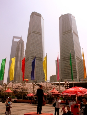 Promenade at outside the Pearl Tower.