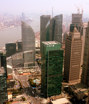 Downtown Shanghai from the Pearl Tower.