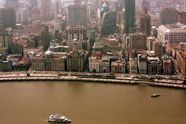 The Bund as seen from the Pearl Tower.