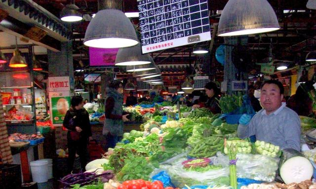Brightly-lit produce stands up to the closest inspection.