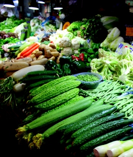 The produce is a feast for the eyes.