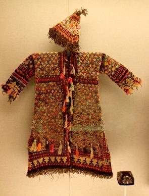 Costume on display in the Minorities Gallery, Shanghai Museum.