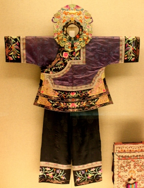 Costume on display in the Minorities Gallery, Shanghai Museum.