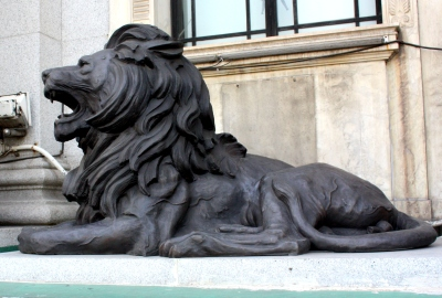 The lion was a prominent symbol in both the British and Chinese cultures.