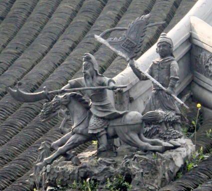 Detail from cottage rooftop, Yu Garden, Shanghai.
